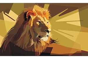 Το παιδί και το ζωγραφισμένο λιοντάρι