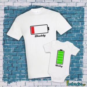 Σετ μπλούζα με φορμάκι «χαμηλή / γεμάτη μπαταρία»