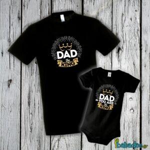 Σετ μπλούζα με φορμάκι «Dad you are the King»