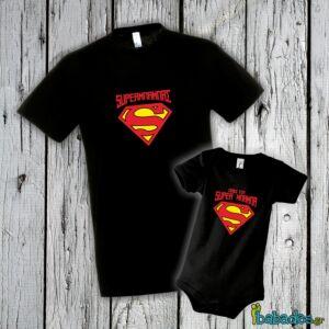 Σετ μπλούζα με φορμάκι «SuperΜπαμπάς»