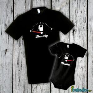 Σετ μπλούζα με φορμάκι «Low Fuel Daddy»