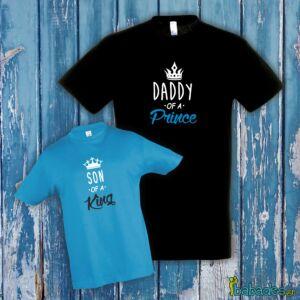 Σετ μπλούζες μπαμπά / γιου «Daddy of a prince / Son of a king»