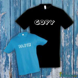 Σετ μπλούζες μπαμπά / γιου «copy paste»